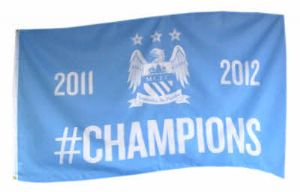 Manchester City Football Club Large Flag style 3 - 5' x 3'.